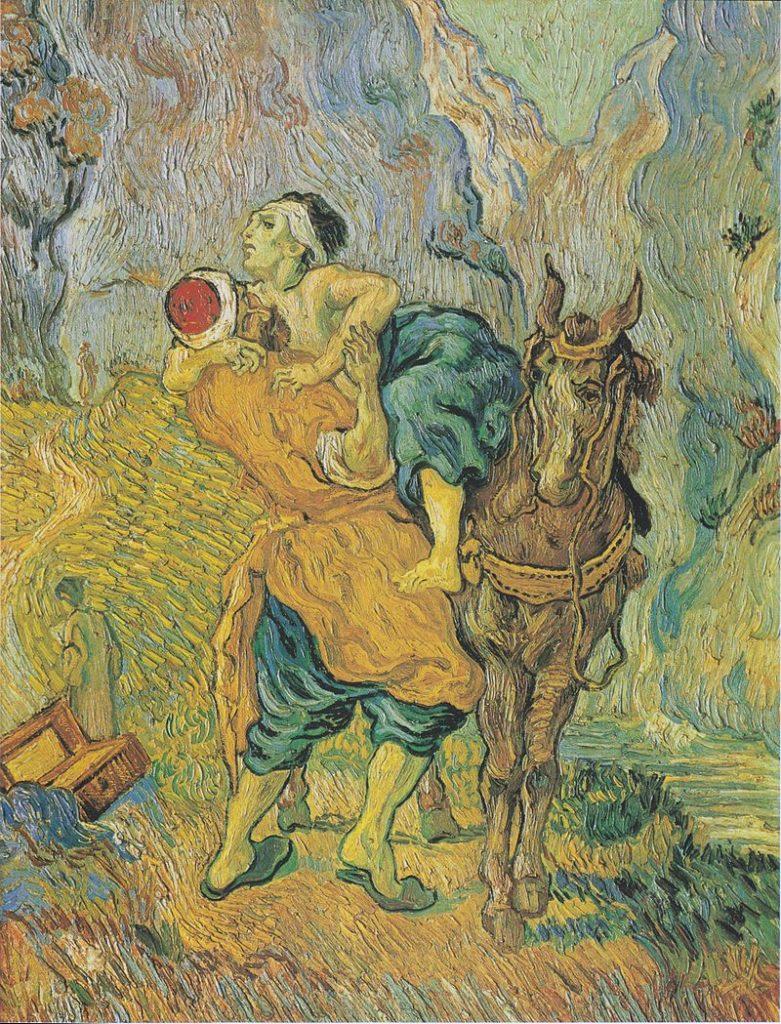 """Step in Warsaw - Przewodnik po Warszawie. """"Dobry Samarytanin"""" Van Gogha. Źródło: https://pl.wikipedia.org/wiki/."""