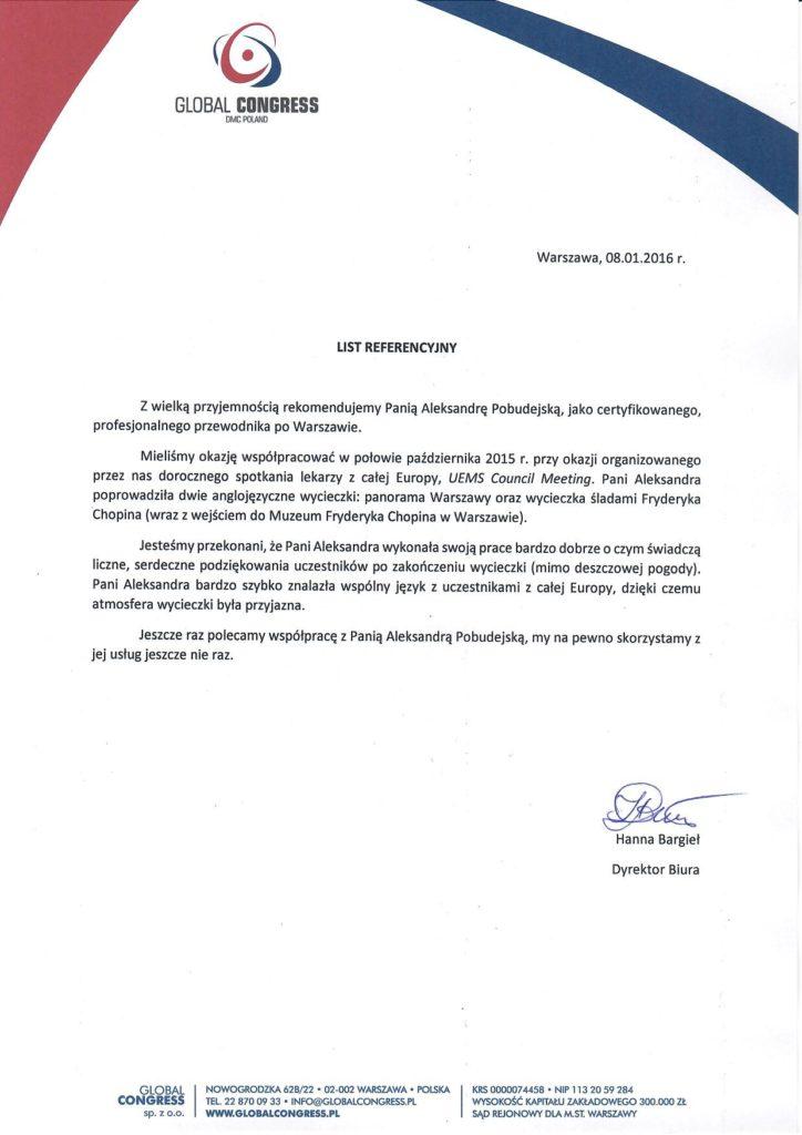 Step in Warsaw - Przewodnik po Warszawie. Global Congress.