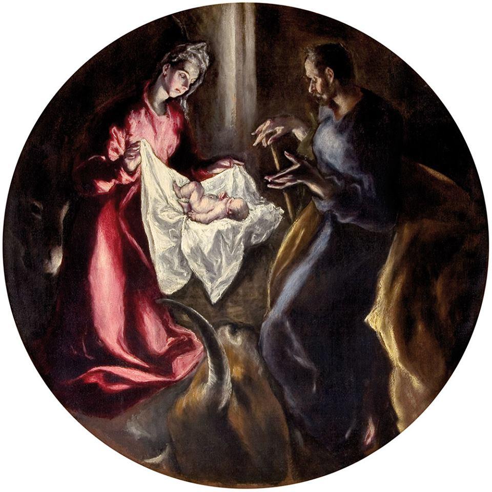 """Step in Warsaw - Stadtführerin in Warschau. El Greco - """"Die Geburt Christi"""". Das Original ist in der Kirche in Spanien (Hospital - Santuario de Nuestra Señora de la Caridad, Illescas, Toledo) zu sehen. Wir haben in Polen ein originales Gemä̱lde von El Greco. Quelle: https://pl.wikipedia.org/."""