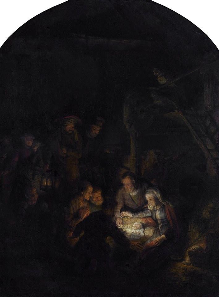 """Step in Warsaw - Stadtführerin in Warschau. Rembrandt - """"Die Anbetung der Hirten"""". Das Original ist in der Alten Pinakothek in München zu sehen. Wir haben in Polen drei originale Gemälde von Rembrandt. Quelle: https://pl.wikipedia.org/."""
