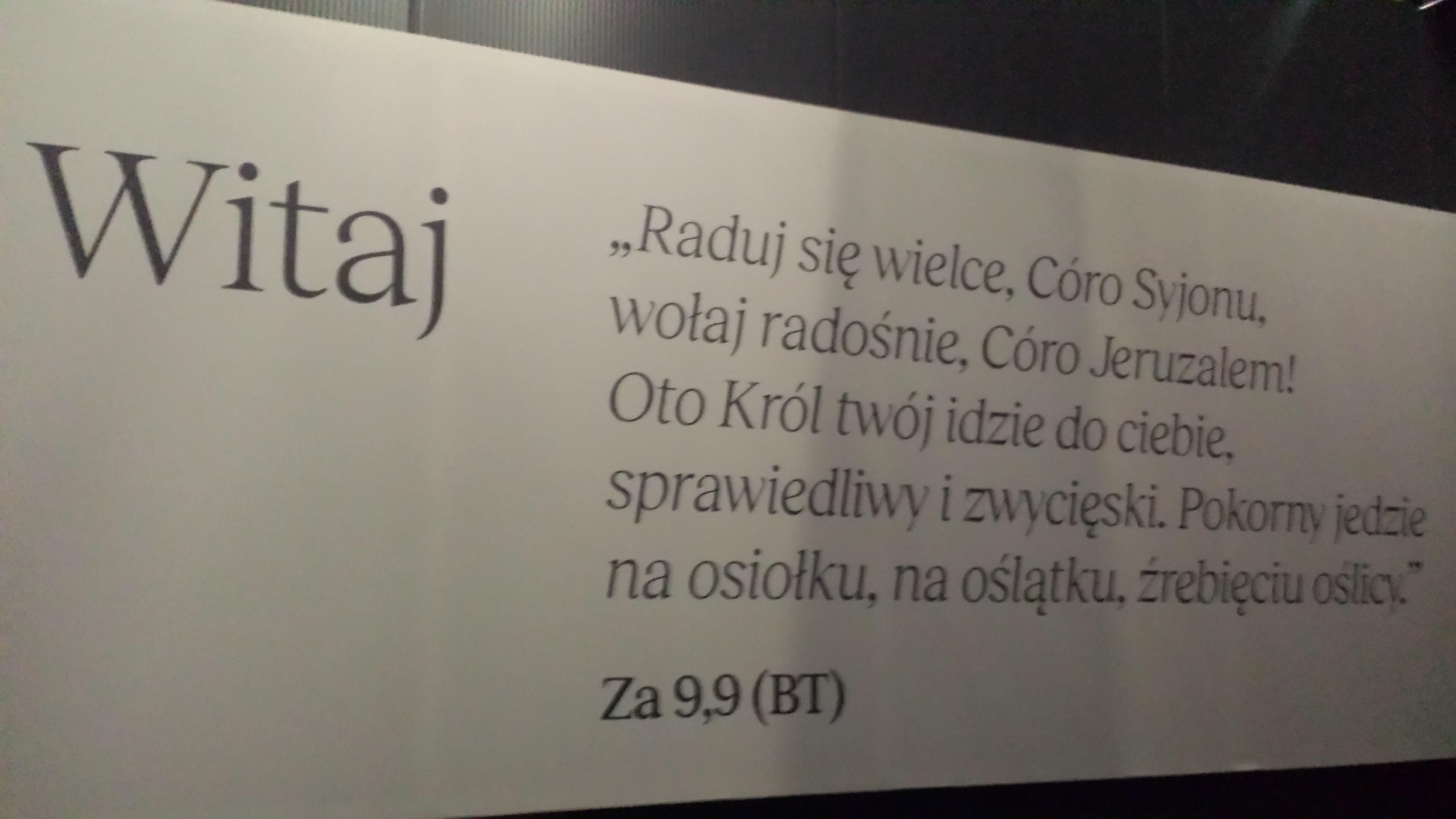 """Step in Warsaw - Stadtführerin in Warschau. Die multimediale Sonderausstellung """"Auf den Spuren von Jesus"""" in der Nähe von dem Tempel der Göttlichen Vorsehung. Willkommen! Warschau, April 2019."""