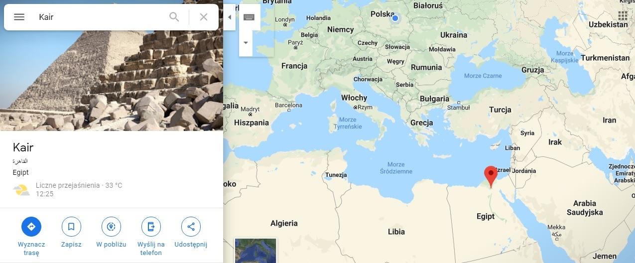 Step in Warsaw - Stadtführerin in Warschau. Kairo auf der Karte von Afrika.