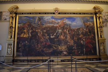 "Step in Warsaw - City guide to Warsaw. The painting of Jan Matejko ""Jan Sobieski at Vienna"". Source: https://www.divinarivelazione.org/la-battaglia-di-vienna-11-settembre-1683/."