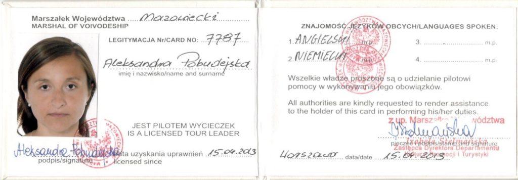 Step in Warsaw - Stadtführerin in Warschau. Eine Lizenz für die Reiseleitung.