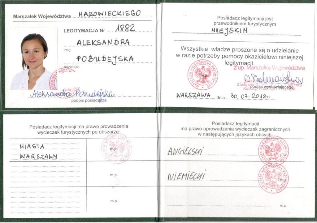 Step in Warsaw - Stadtführerin in Warschau. Eine Lizenz für die Stadtführung in Warschau.