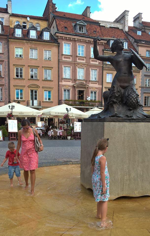 Step in Warsaw - Stadtführerin in Warschau. Warschau für Kinder. Die Legende von der Warschauer Meerjungfrau. Warschau, Juli 2018.