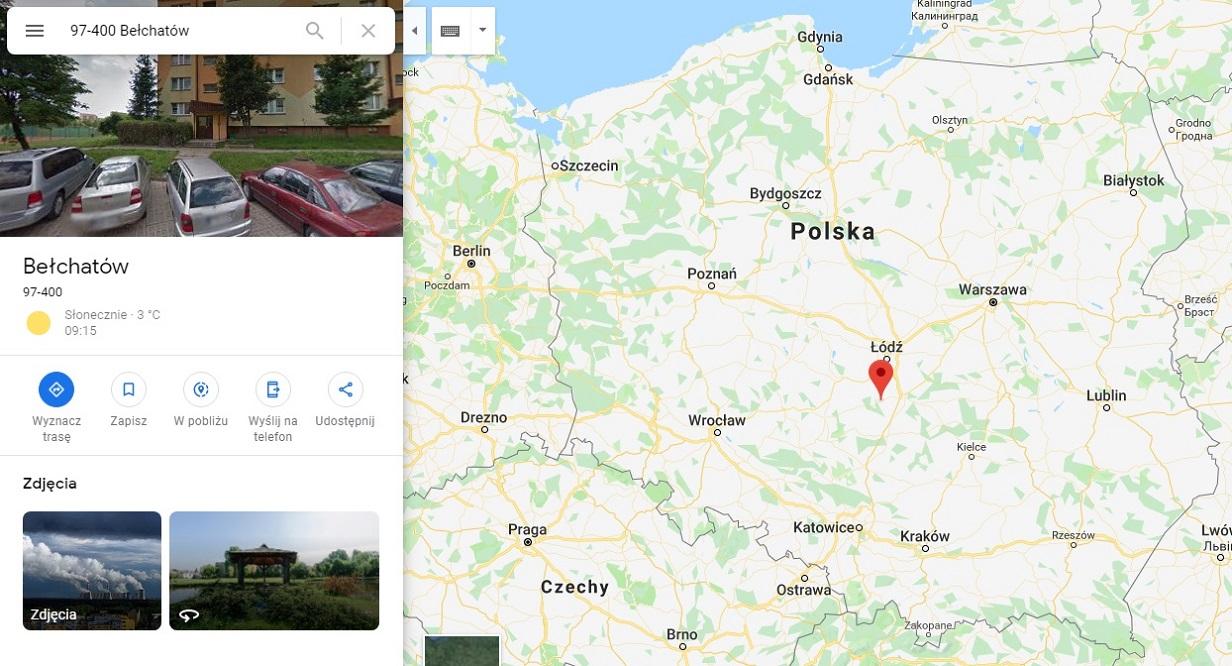 Step in Warsaw - Stadtführerin in Warschau. Bełchatów auf der Karte von Polen.